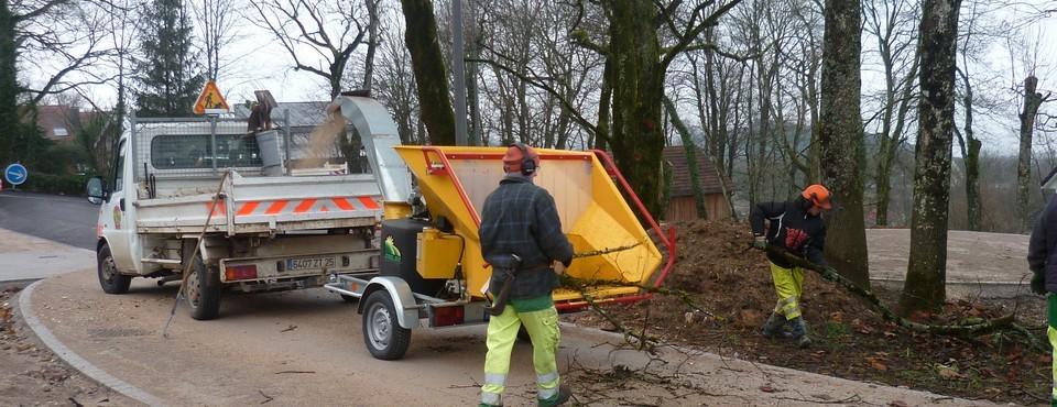 Broyage de branches à Larnod le 26 janvier 2012
